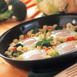 Creamy Pasta and Egg Skillet